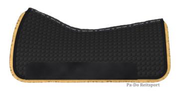 Mattes Lammfell Western Square Pad schwarz/natur 75cm