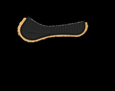 Mattes Sattelkissen mit Fell ohne Fellrand- schnell verfügbar