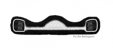 Mattes Lammfell Sattelgurt-Kurzgurt, englisch und western, asymmetrisch