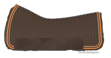 Mattes Westernpad Square Pad komplett Lammfell mit 3 Taschen-Correction-System, XL